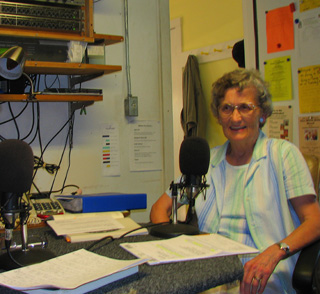 Mary on radio show